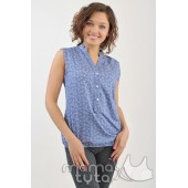 Блуза цвета джинс
