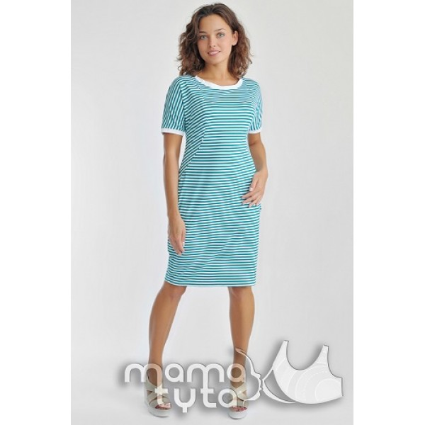 Платье бочонок полоска