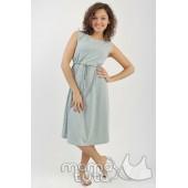 Платье серый меланж
