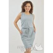 Платье спортивное серый меланж