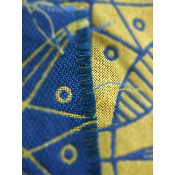 Yaro Pysanka Contra Yellow Blue Tencel