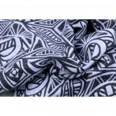 Yaro Urban Geo Contra Black White Wool Bourette
